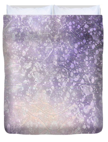 Lilac Shades Abstract Duvet Cover