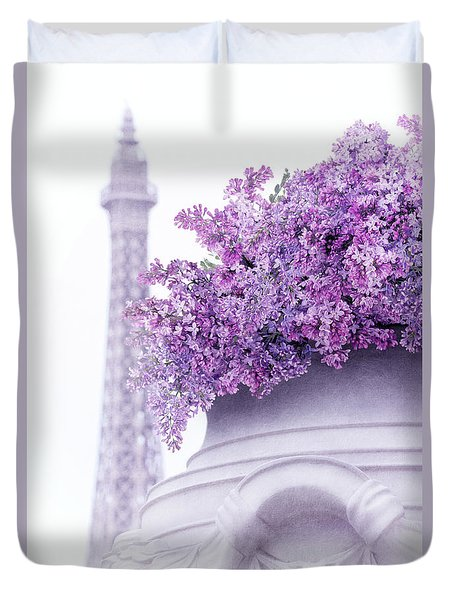 Lilac Tales Duvet Cover by Iryna Goodall