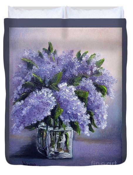 Lilac Duvet Cover by Vesna Martinjak