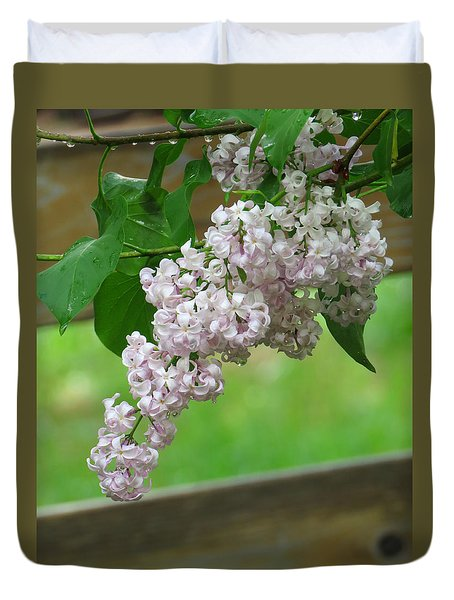 Duvet Cover featuring the photograph Lilacs In The Rain 5 by Brooks Garten Hauschild