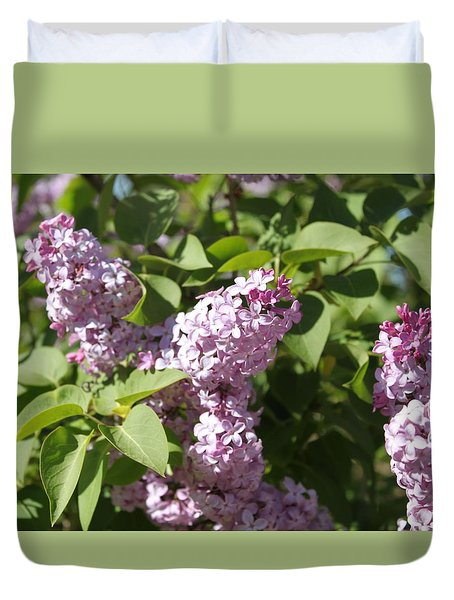 Duvet Cover featuring the photograph Lilacs 5544 by Antonio Romero