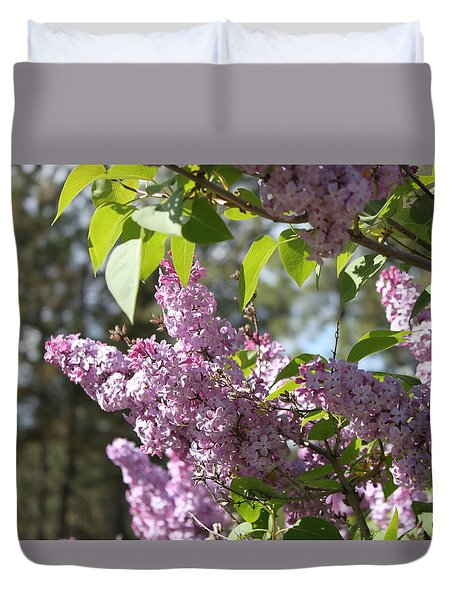 Duvet Cover featuring the photograph Lilacs 5545 by Antonio Romero