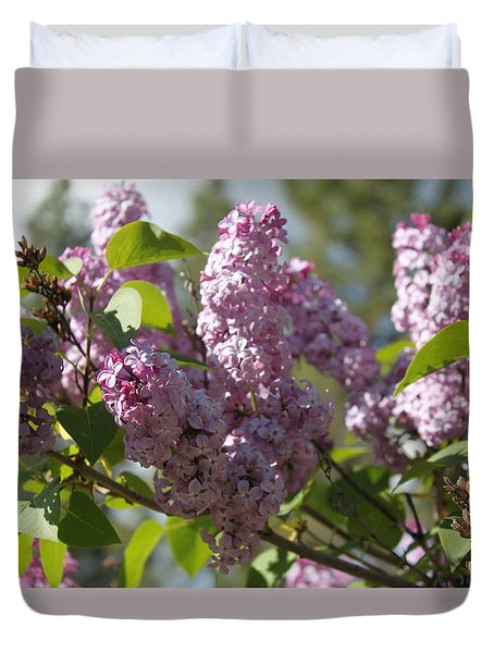 Duvet Cover featuring the photograph Lilacs 5548 by Antonio Romero
