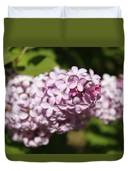 Duvet Cover featuring the photograph Lilacs 5549 by Antonio Romero