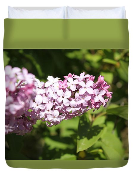 Duvet Cover featuring the photograph Lilacs 5550 by Antonio Romero