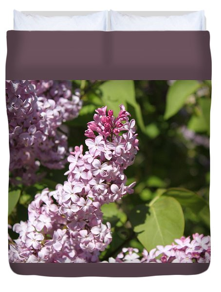 Duvet Cover featuring the photograph Lilacs 5552 by Antonio Romero