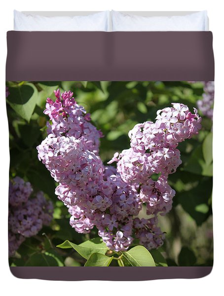 Duvet Cover featuring the digital art Lilacs by Antonio Romero