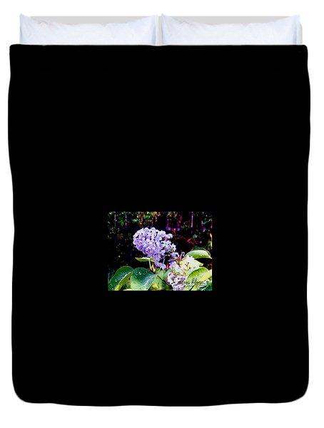 Duvet Cover featuring the photograph Lilacs by Deleas Kilgore