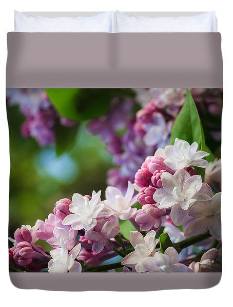 Lilacs Of Spring Duvet Cover