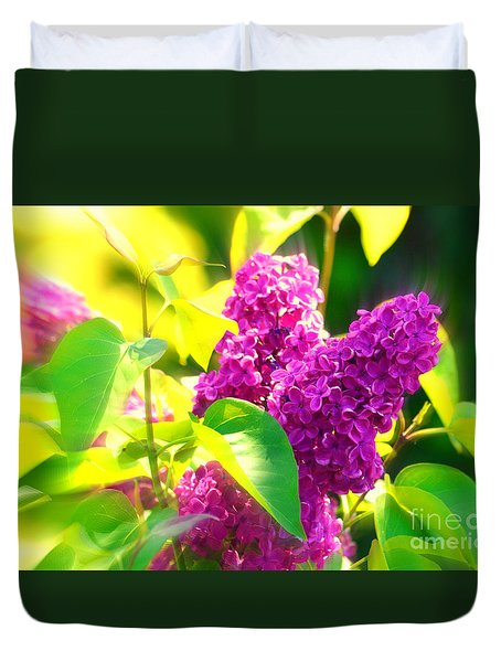 Duvet Cover featuring the photograph Lilacs by Susanne Van Hulst