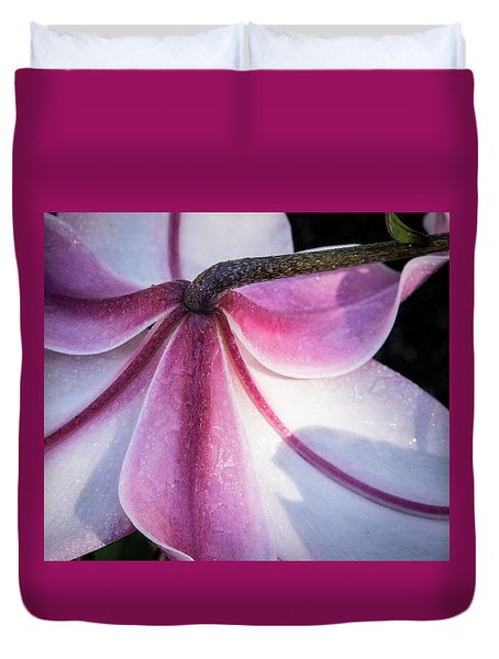 Duvet Cover featuring the photograph Lilies Backside by Jean Noren