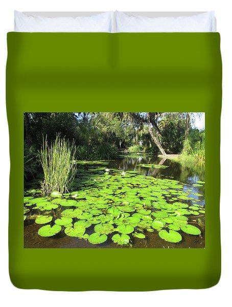 Lilies Of Bok Gardens Duvet Cover