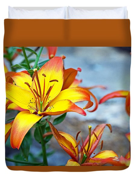 Lilies Of The Field #1 Duvet Cover