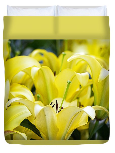 Lilies Of The Field #2 Duvet Cover