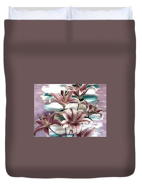 Lilies That Soothe Me Duvet Cover
