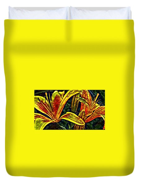 Lilly Fire Duvet Cover