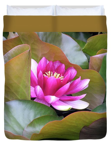 Lilly In Bloom Duvet Cover by Wendy McKennon