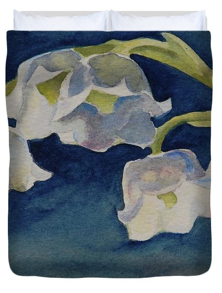 Lilly Of The Valley Duvet Cover by Gretchen Bjornson