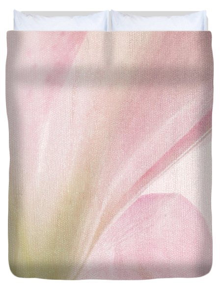 Lilly On Canvas Duvet Cover