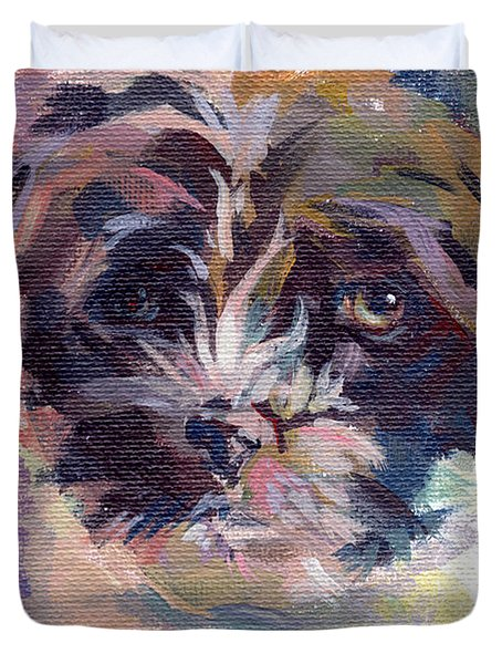 Lilly Pup Duvet Cover by Kimberly Santini