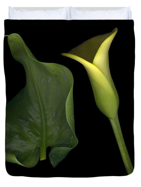 Lily And Leaf Number Two Duvet Cover by Heather Kirk