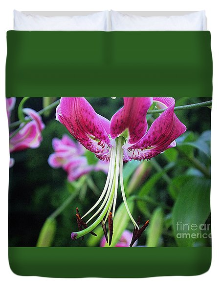 Lily At The Church Duvet Cover by John S
