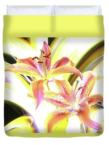 Lily Burst Duvet Cover