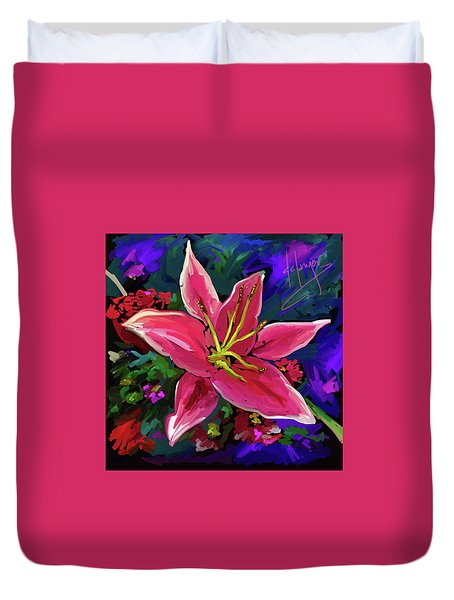 Lily Duvet Cover by DC Langer