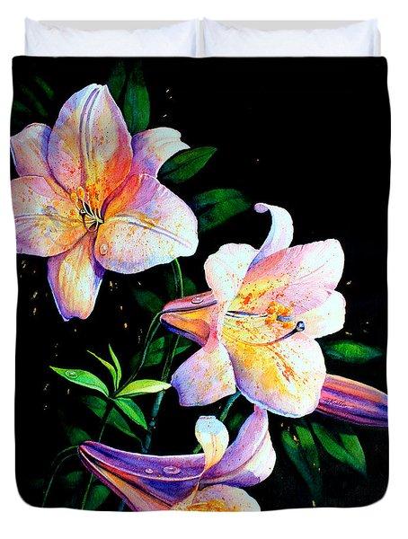 Lily Fiesta Duvet Cover by Hanne Lore Koehler
