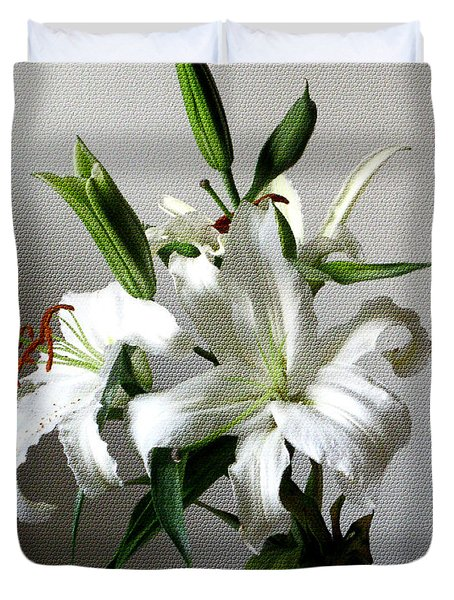 Lily Flower Duvet Cover