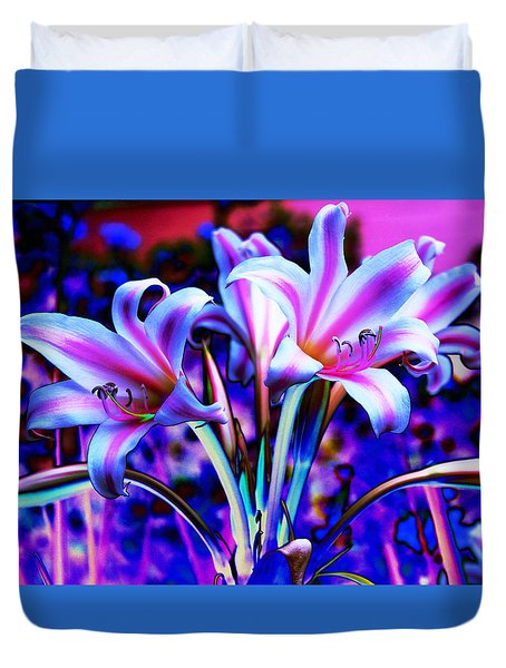 Lily Glow Abstract Duvet Cover