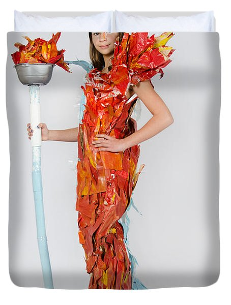 Lily In Fire And Ice Queen Duvet Cover