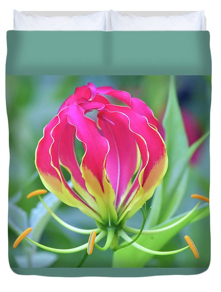 Lily In Flames Duvet Cover