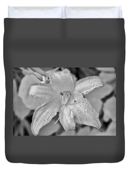 Lily In Infrared Duvet Cover