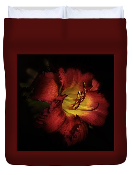 Lily In Red Duvet Cover