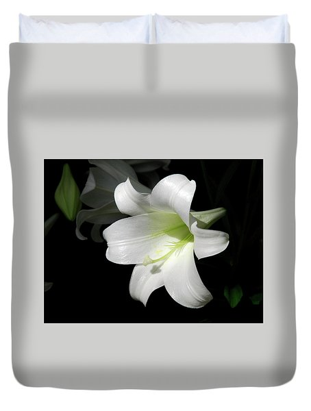 Lily In The Light Duvet Cover