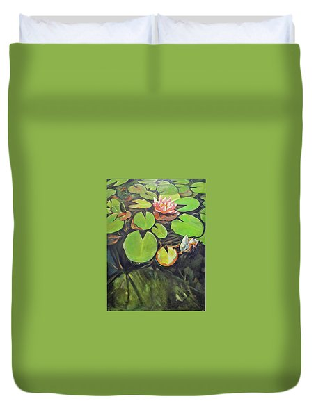 Lily In The Water Duvet Cover