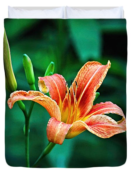 Lily In Woods Duvet Cover