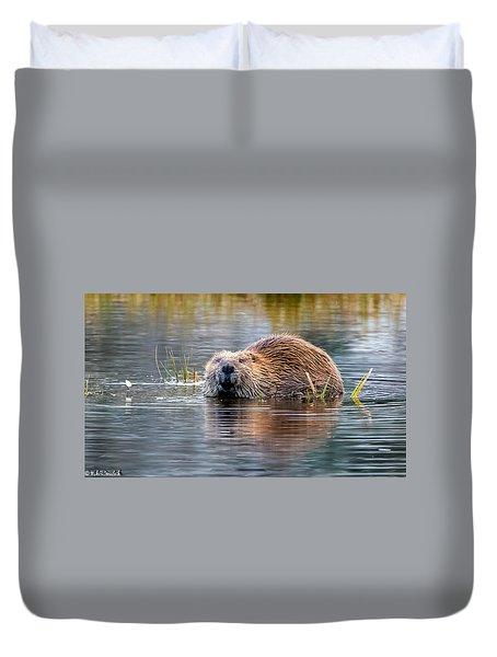 Lily Lake Beaver Duvet Cover