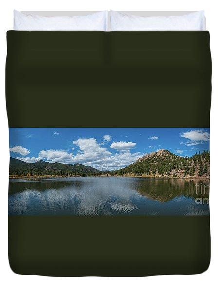 Lily Lake Panorama  Duvet Cover