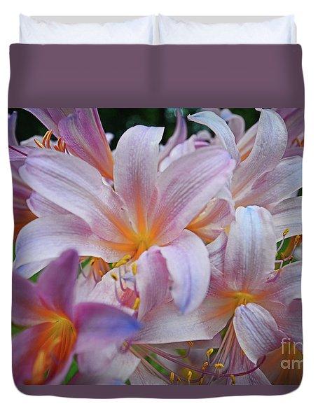 Lily Lavender Closeup Duvet Cover