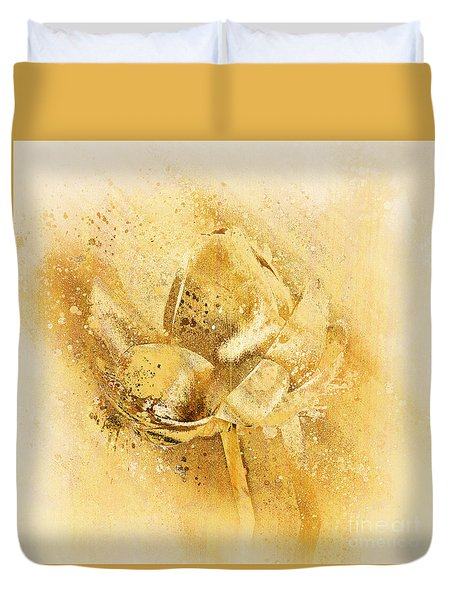 Duvet Cover featuring the digital art Lily My Lovely - S114sqc75v2 by Variance Collections