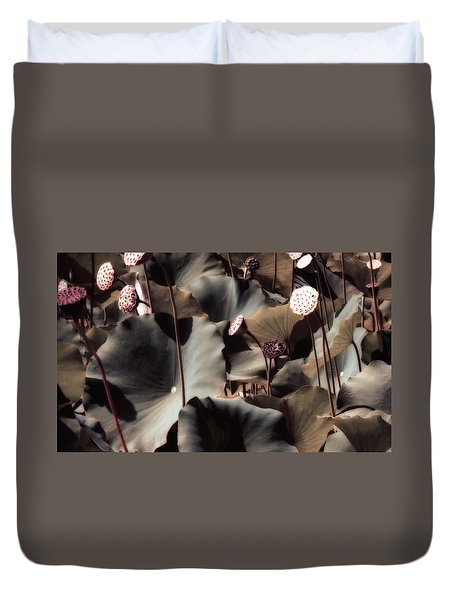 Lily Of The Lake By Mike Hope Duvet Cover