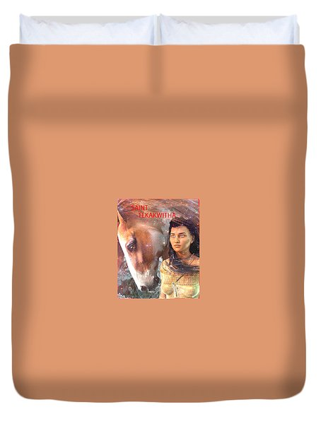 Duvet Cover featuring the painting Lily Of The Mohawks by Suzanne Silvir