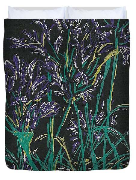 Duvet Cover featuring the mixed media Lily Of The Nile  by Vicki  Housel