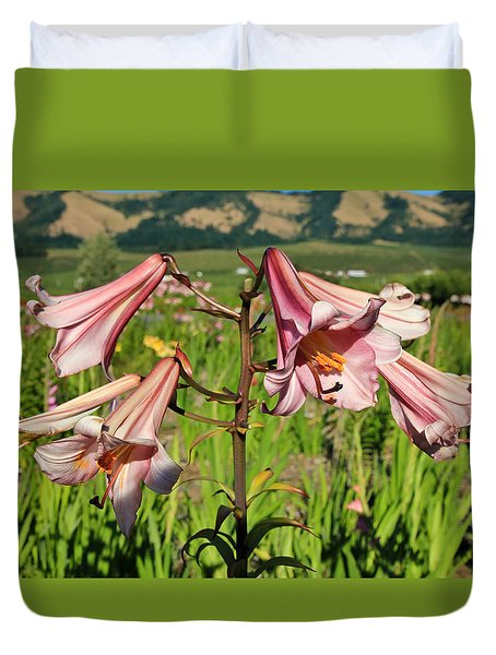Lily Of The Valley Duvet Cover by Athena Mckinzie