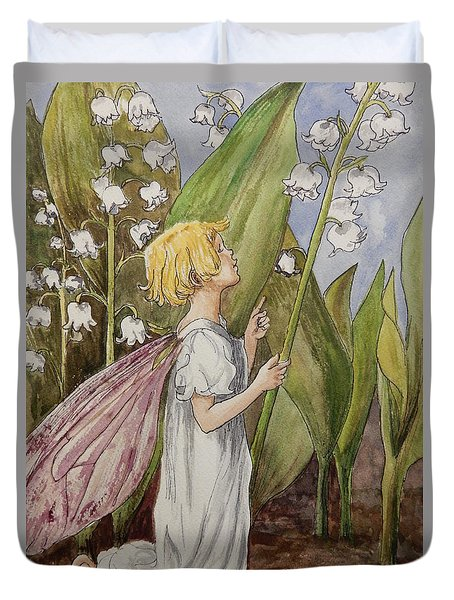 Lily Of The Valley Fairy After Cicely Mary Barker Duvet Cover