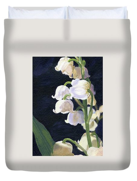 Lily Of The Valley Duvet Cover by Lynne Reichhart