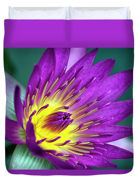 Lily On The Water Duvet Cover