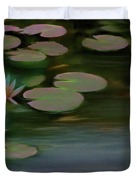 Lily Pad Glow Duvet Cover